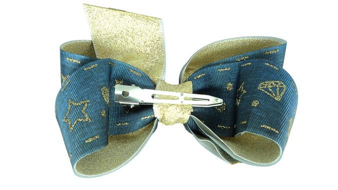 Laço Bico de Pato Jeans Coração