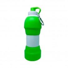 Garrafa de Silicone Retrátil - 580ml  Verde