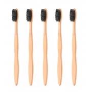 Kit 5 Escovas de Dentes - Bambu Carvão
