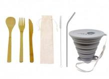 Kit Lixo Zero Simples Cinza