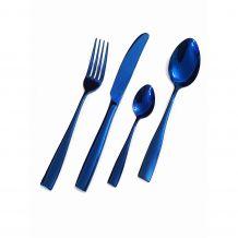 Talheres de Inox Brilhante Azul - 16 peças