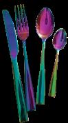 Talheres de Inox Brilhante Rainbow - 16 peças