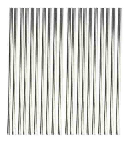 Kit 50 Canudos Aço Inox Metal Reutilizável