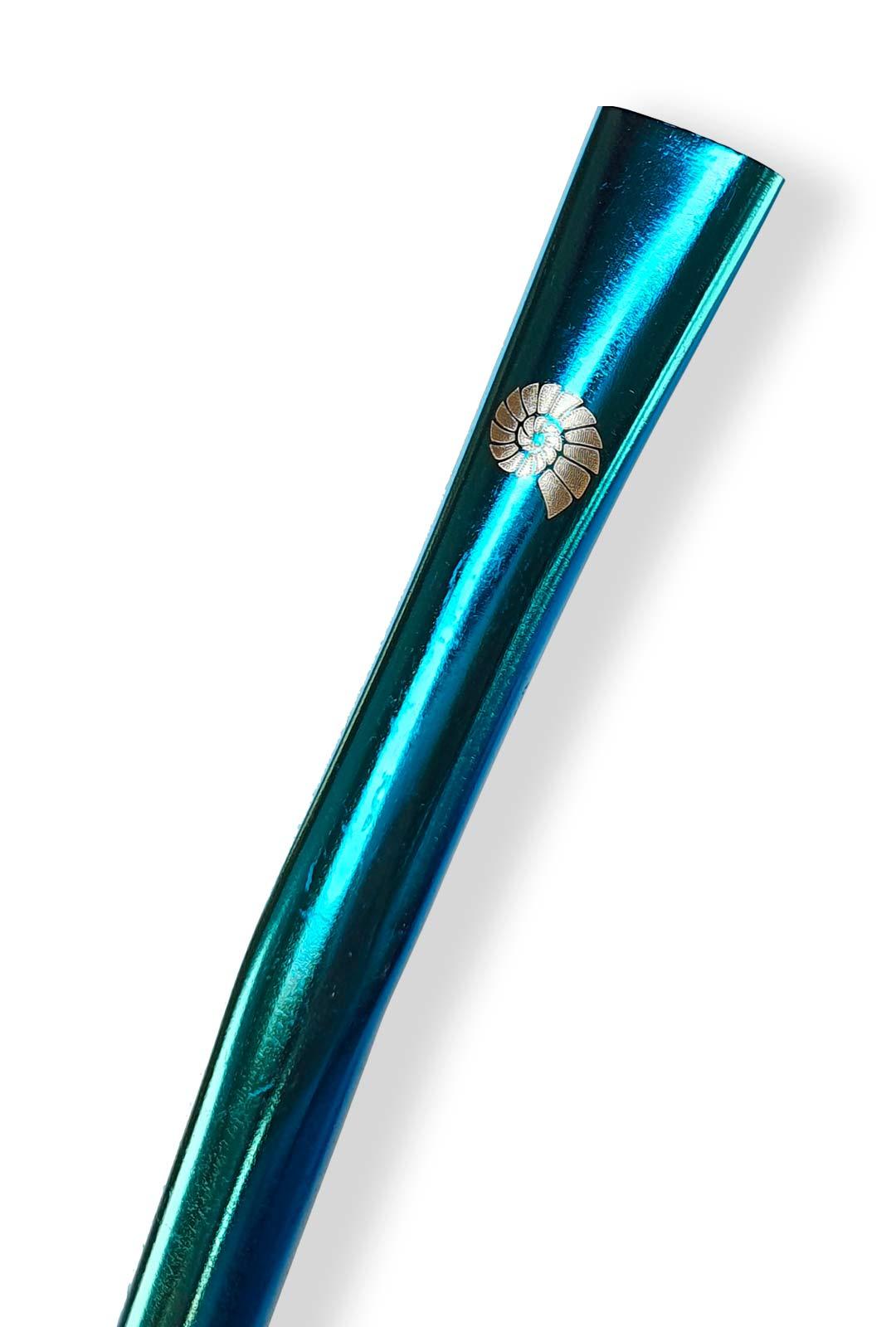 Canudo Bomba Para Chimarrão Azul Longo