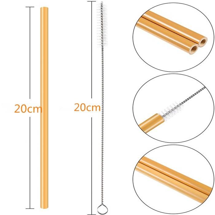 Canudo de Bambu Personalizado + Escova