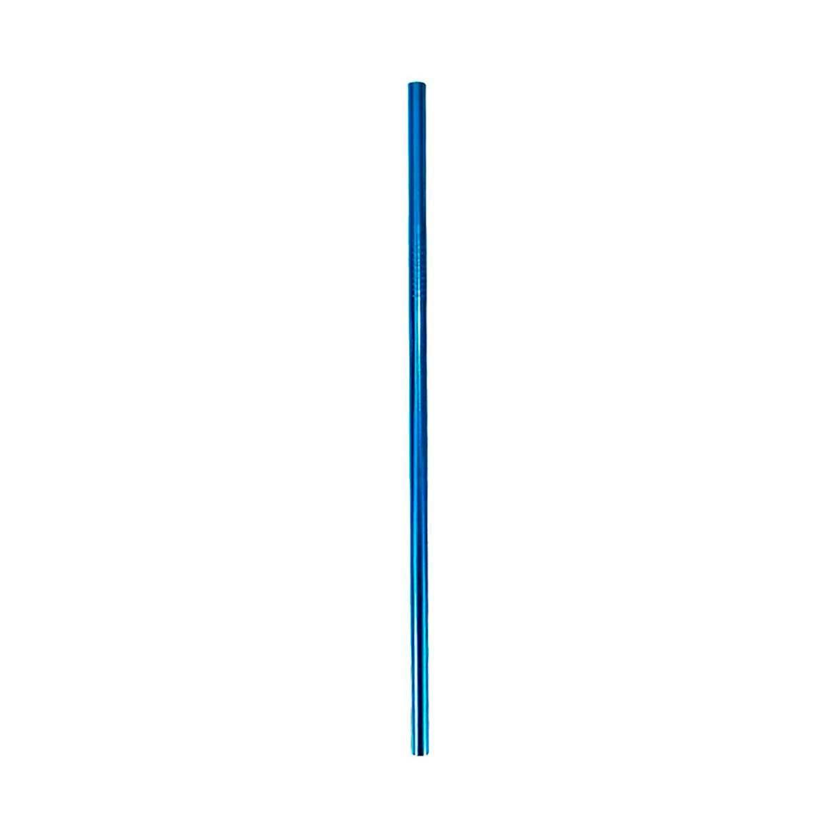 Canudo de Inox Reto Azul - OUTLET