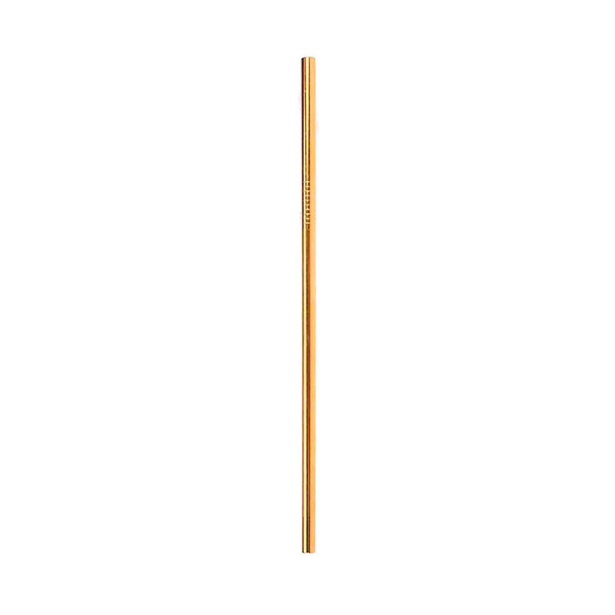 Canudo de Inox Reto Dourado - OUTLET