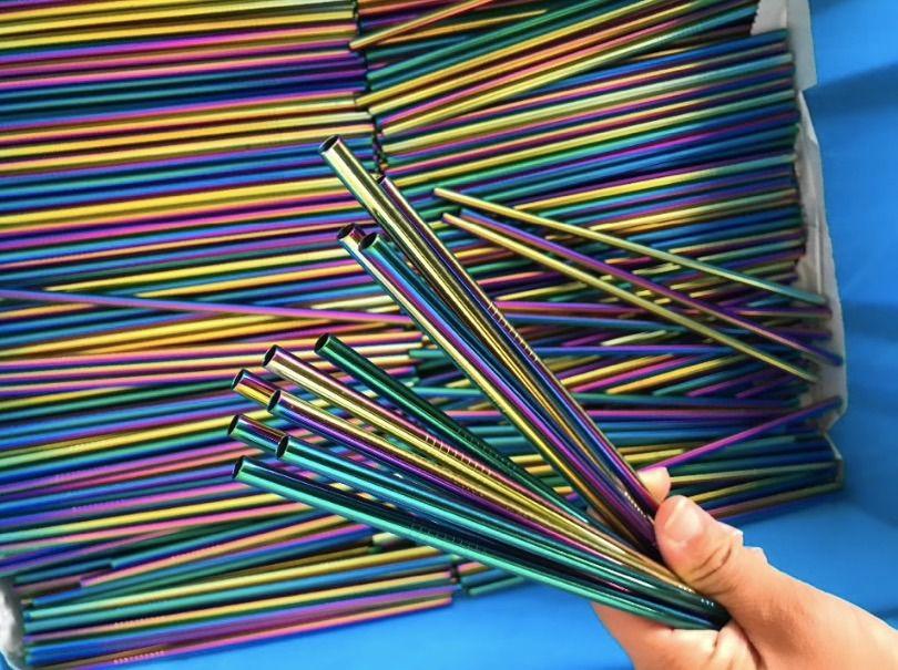 Canudo de Inox Reto Rainbow - OUTLET