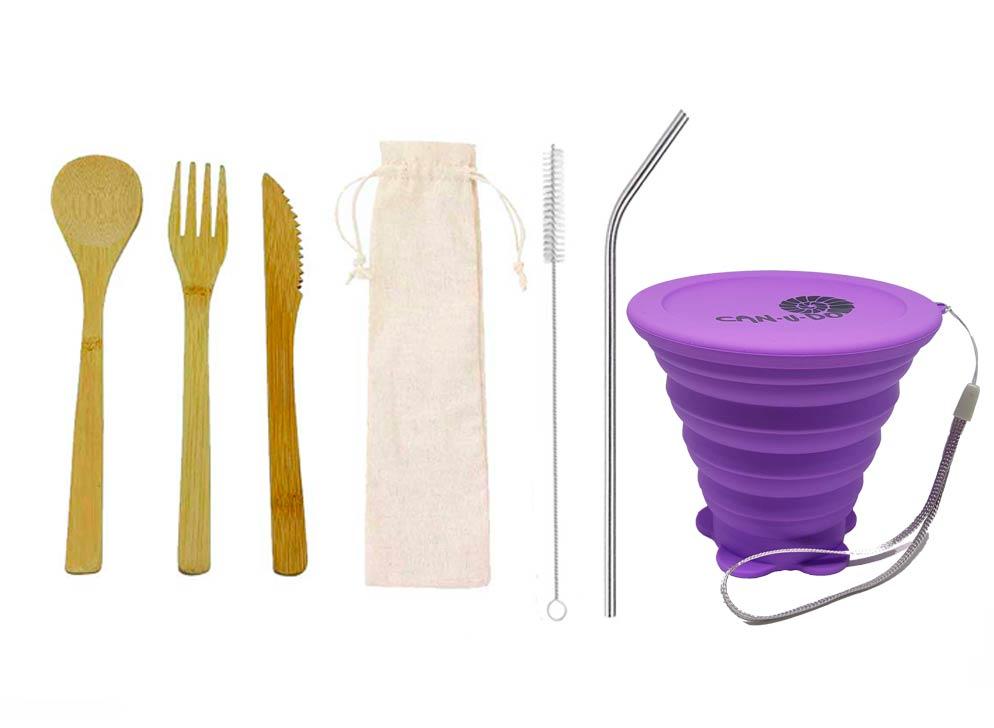 Kit Lixo Zero Simples Roxo