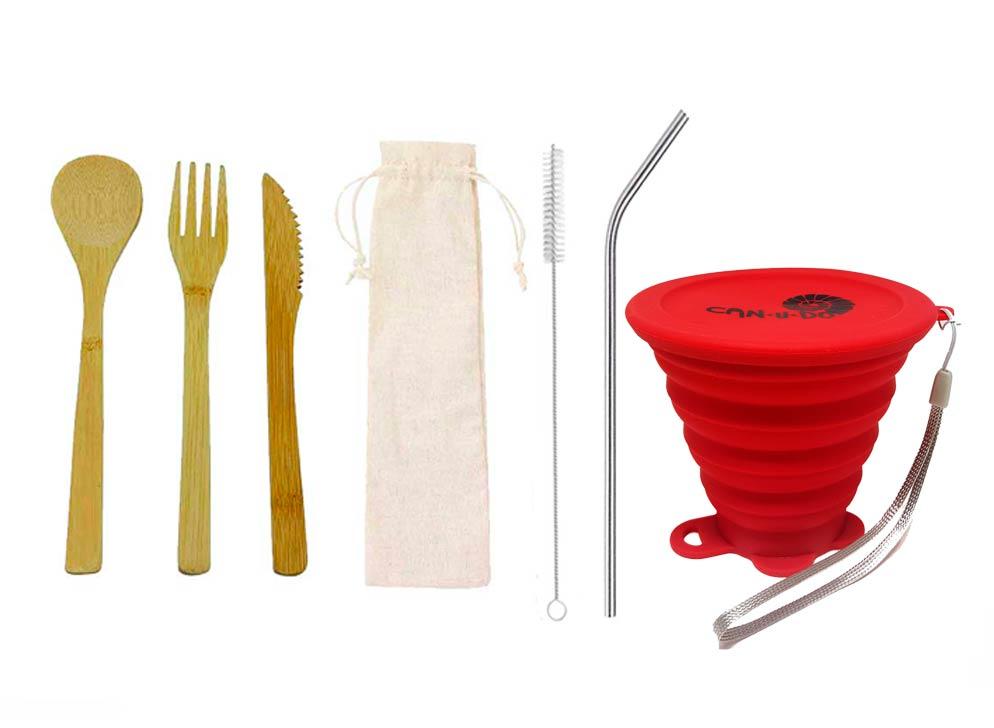Kit Lixo Zero Simples Vermelho