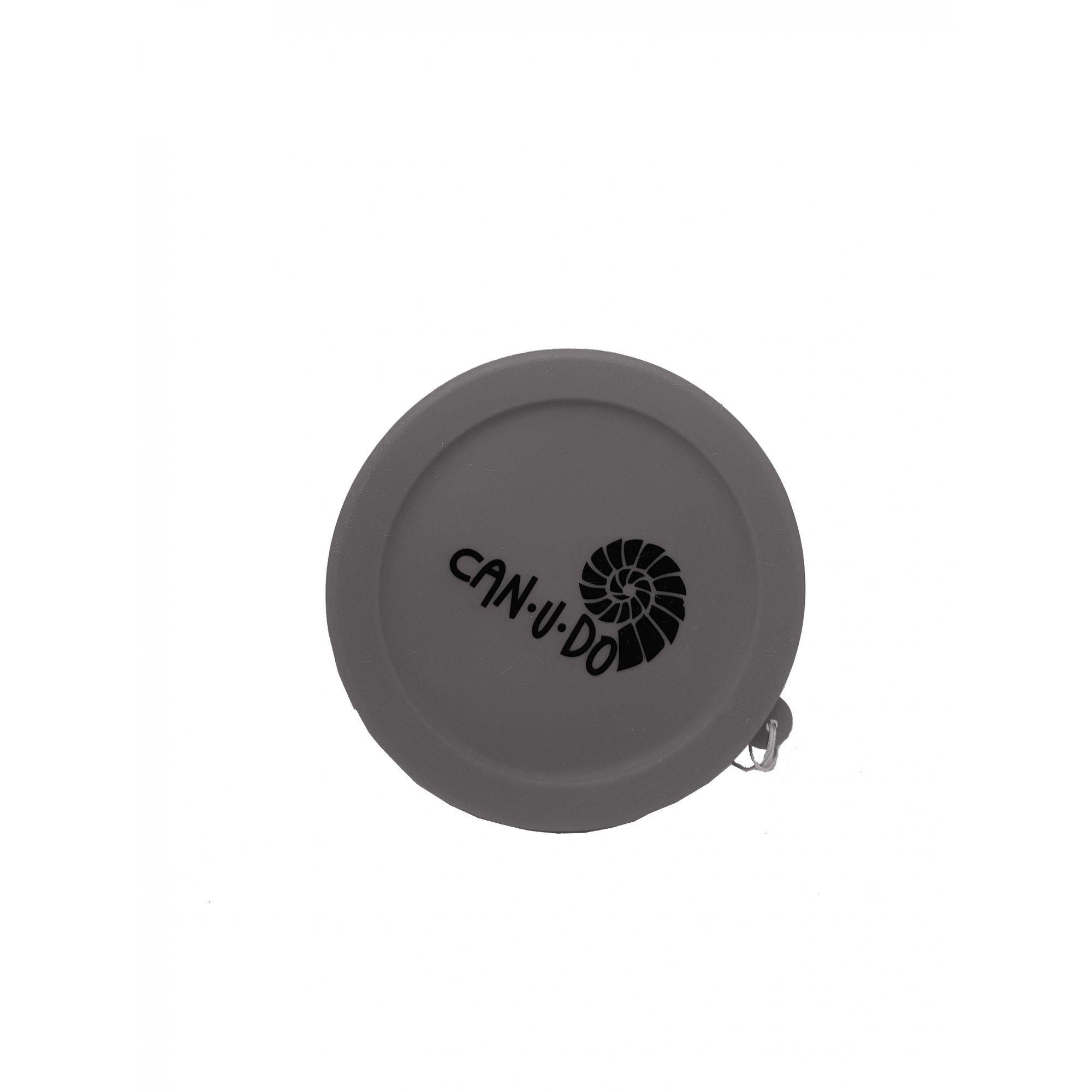 Copo de Silicone Retrátil - 260ml Cinza