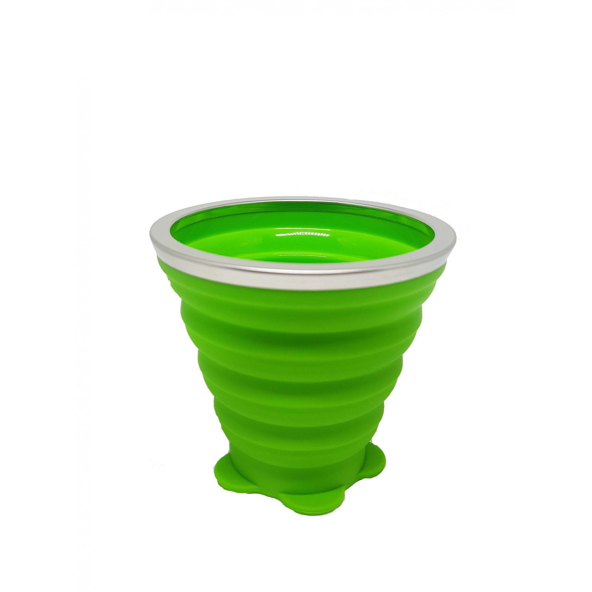 Copo de Silicone Retrátil - 260ml Verde