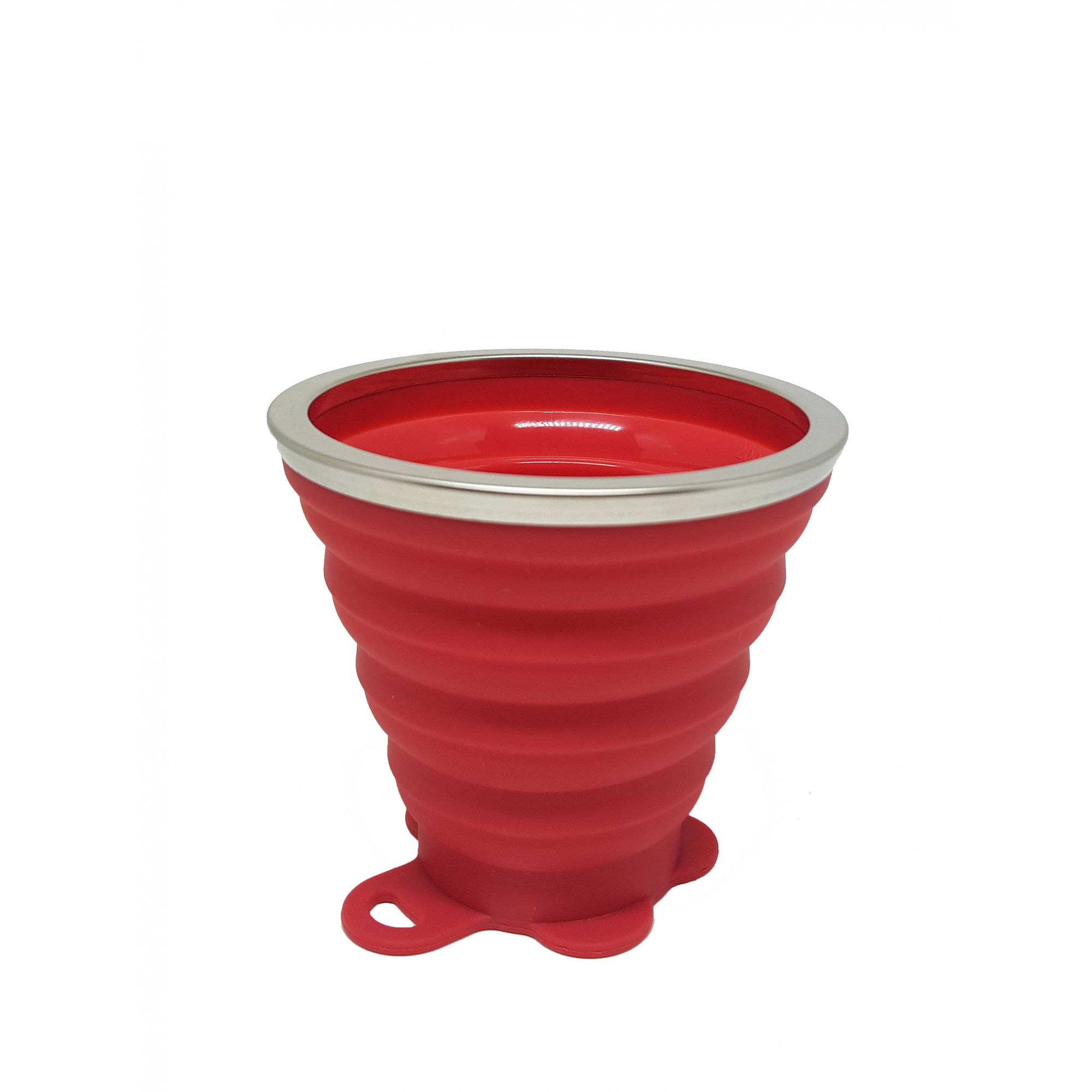 Copo de Silicone Retrátil - 260ml Vermelho