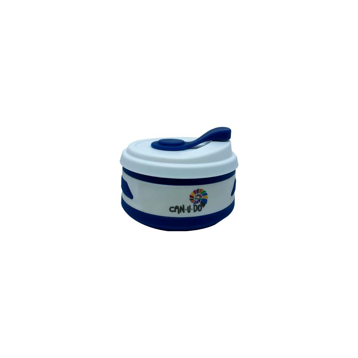 Copo de Silicone Retrátil - 350ml Azul