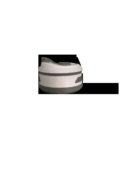 Copo de Silicone Retrátil - 350ml Cinza
