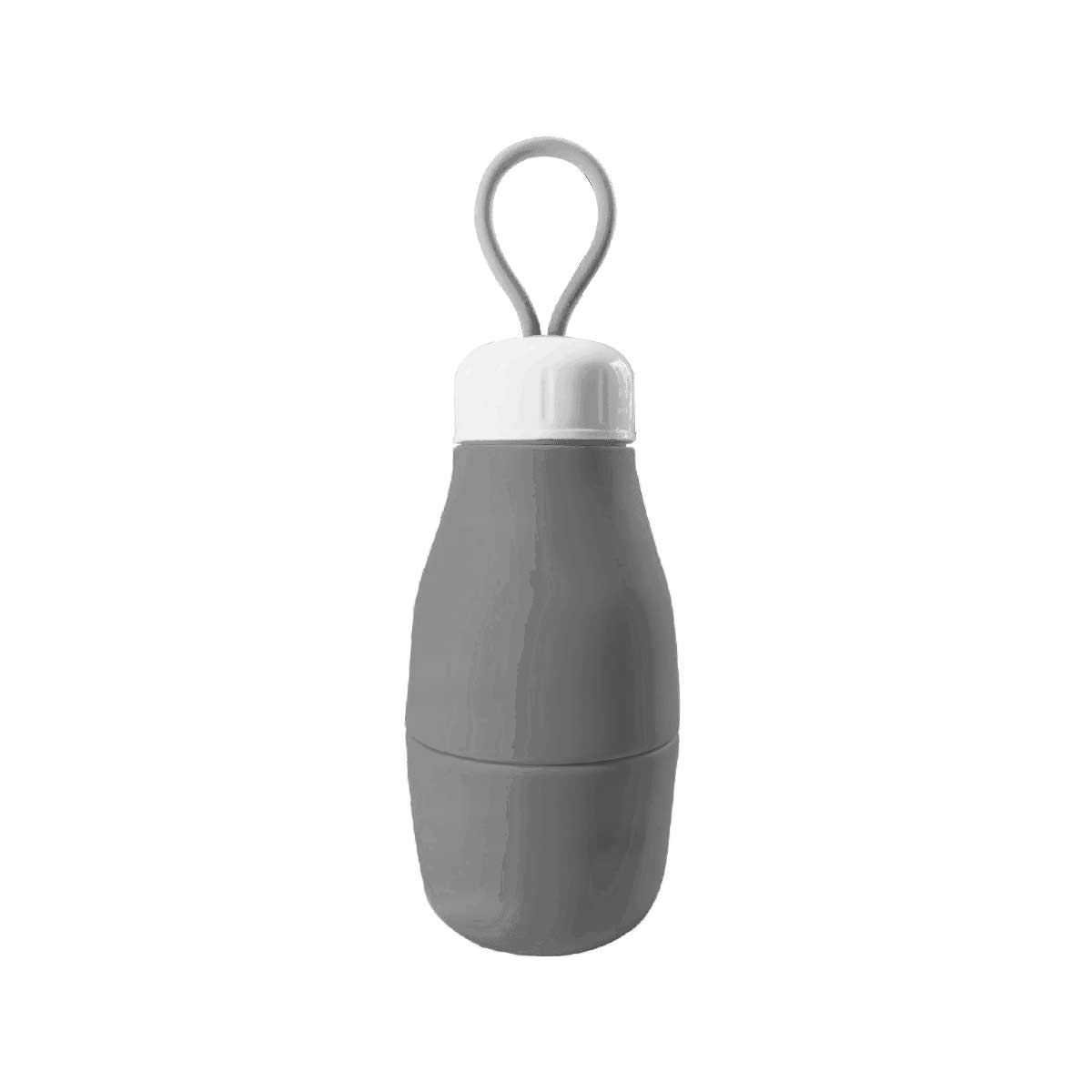 Garrafa de Silicone Retrátil - 560ml Cinza