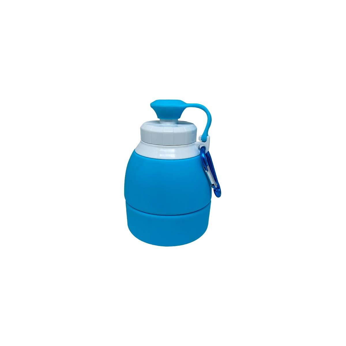 Garrafa de Silicone Retrátil - 580ml Azul