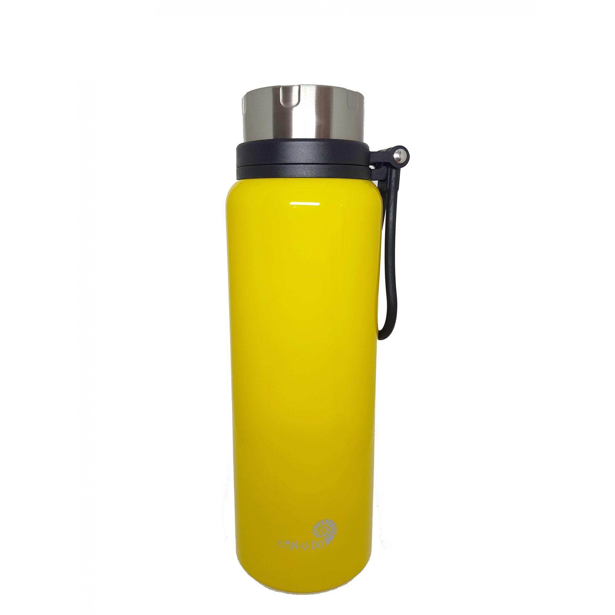 Garrafa Térmica de Inox - 1,2L - Amarela