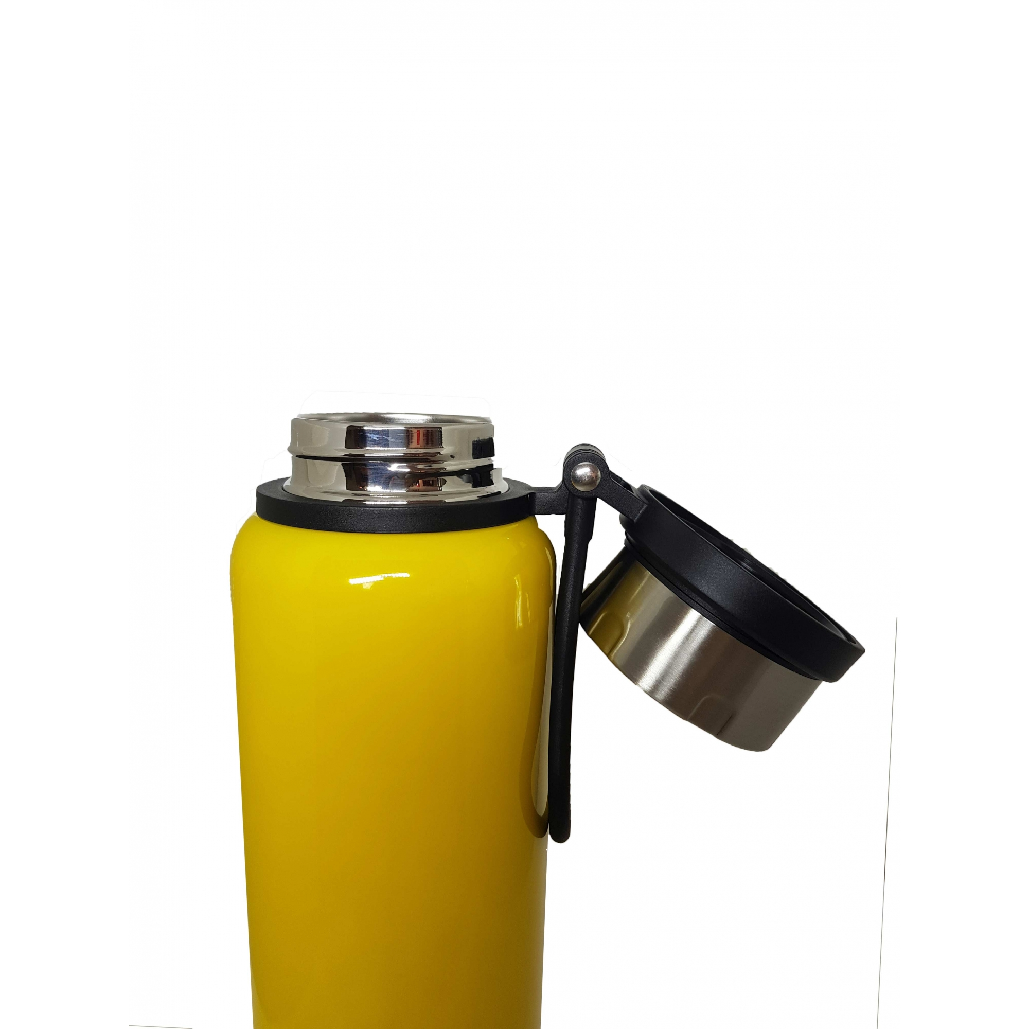 Garrafa Térmica de Inox - 1,2L - Amarela - OUTLET