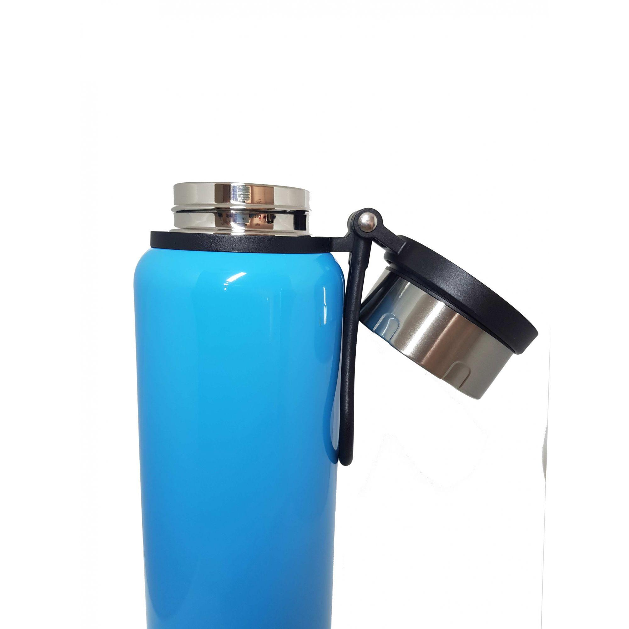 Garrafa Térmica de Inox - 1,2L - Azul