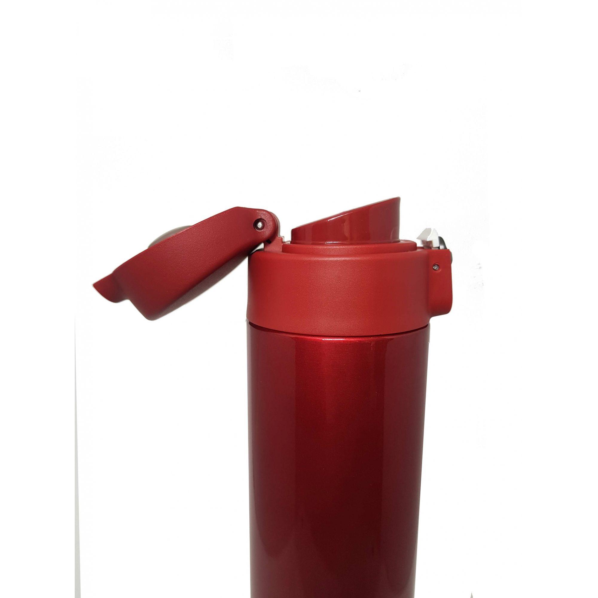 Garrafa Térmica de Inox - 500ml Vermelha