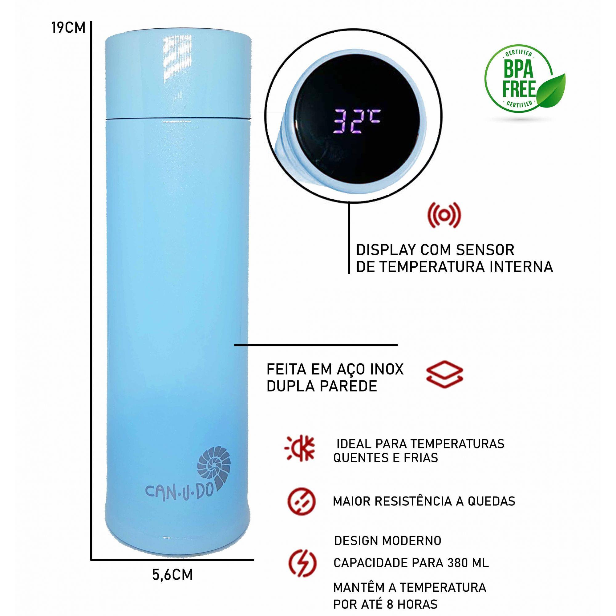 Garrafa Térmica de Inox Smart - 320ml Azul