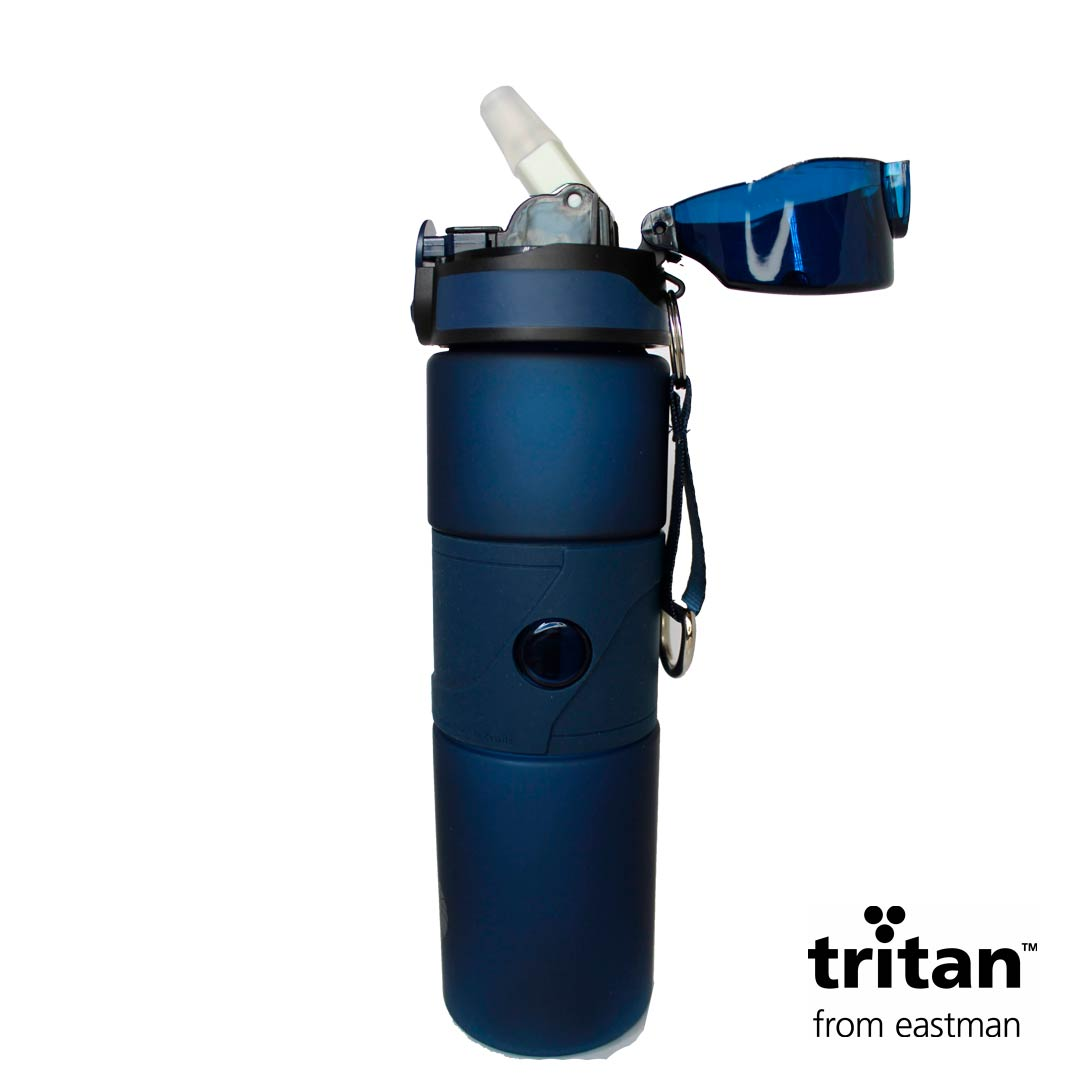 Garrafa Tritan 750ml Azul Escuro