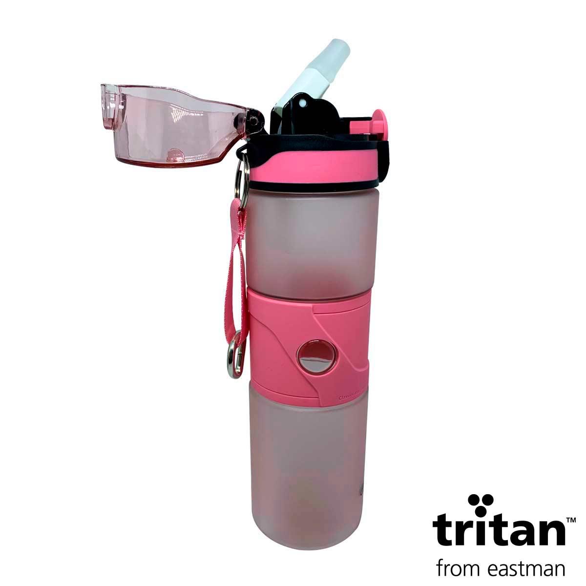 Garrafa Tritan 750ml Rosa