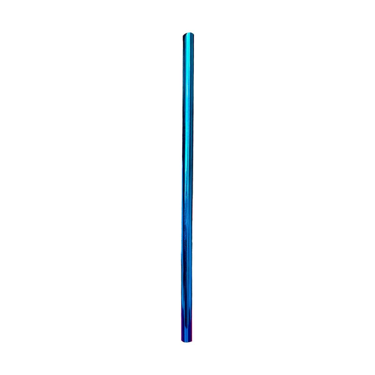 Kit 5 em 1 Inox (Shake 8mm) + Escova + Ecobag Reuse Azul