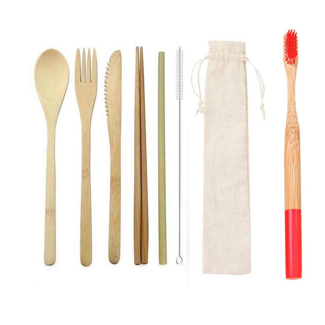 Kit Canuder Bambu Vermelho
