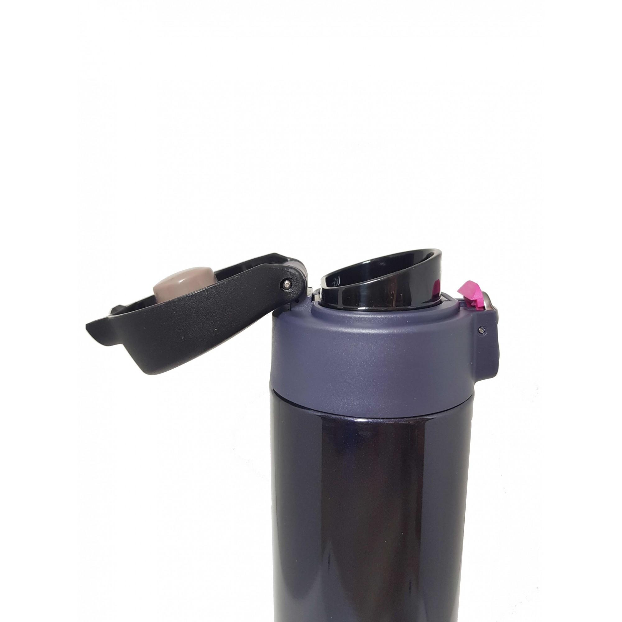 Kit Garrafa Térmica 500 ml Az Petro + Canudo Chaveiro INOX