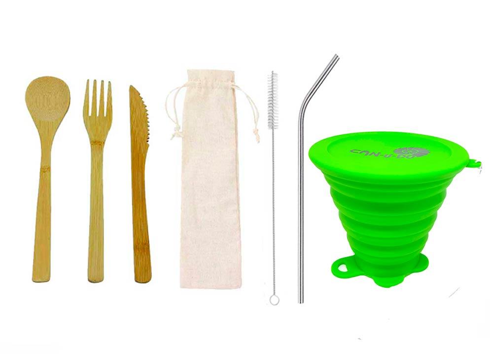 Kit Lixo Zero Simples Verde