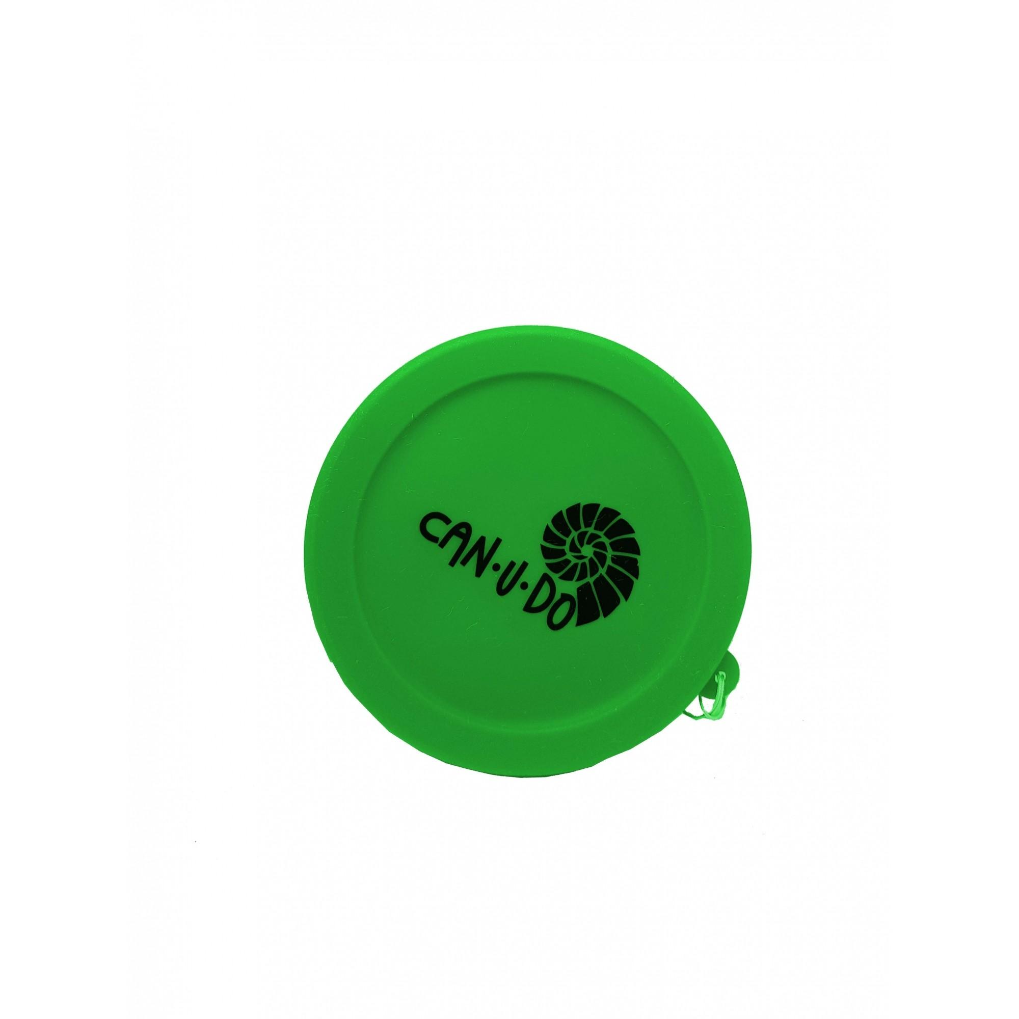 Kit Misto Inox + Copo Retrátil Verde