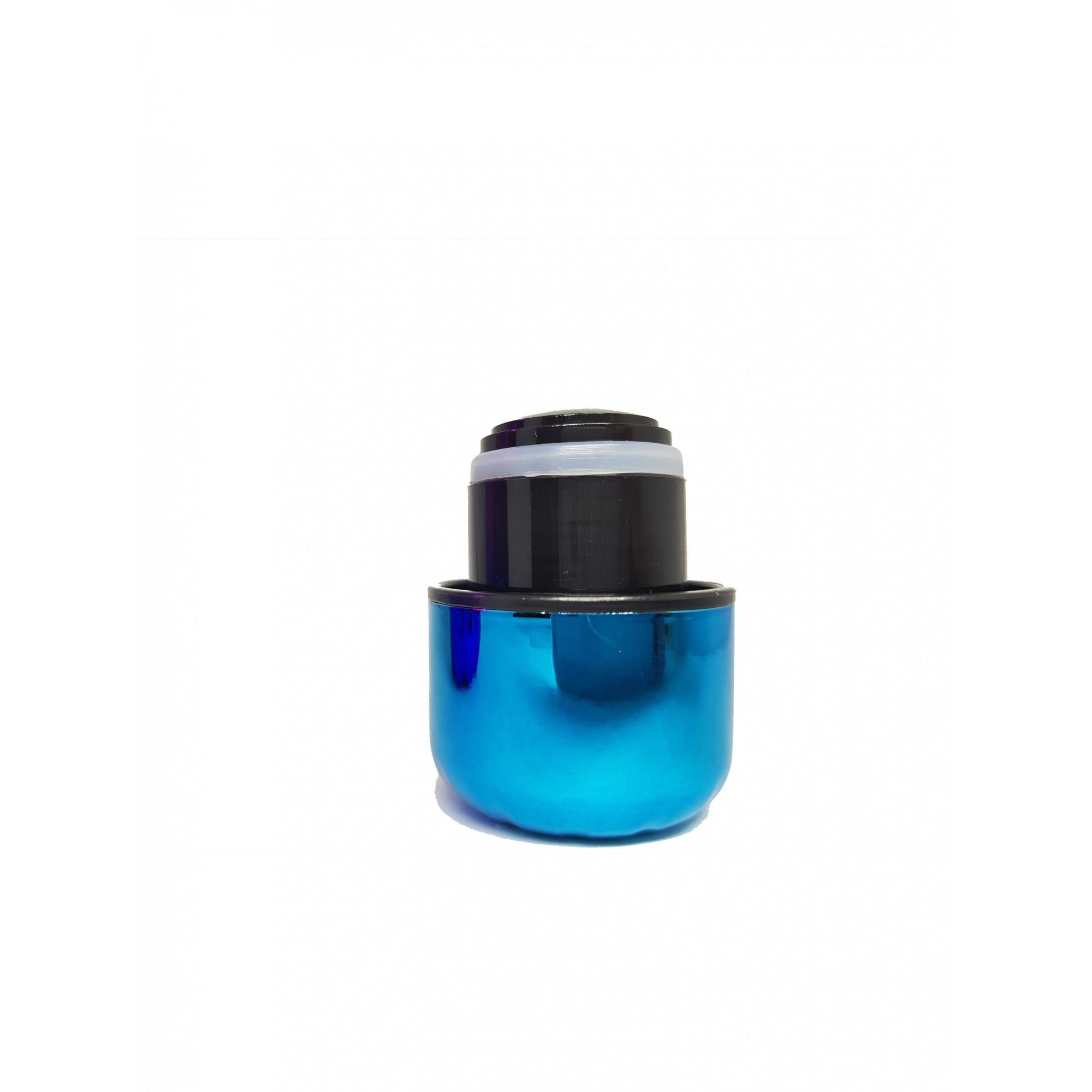 Kit Mundo Bolsa papel + garrafa Holográfica + kit 5 em 1 inox Azul