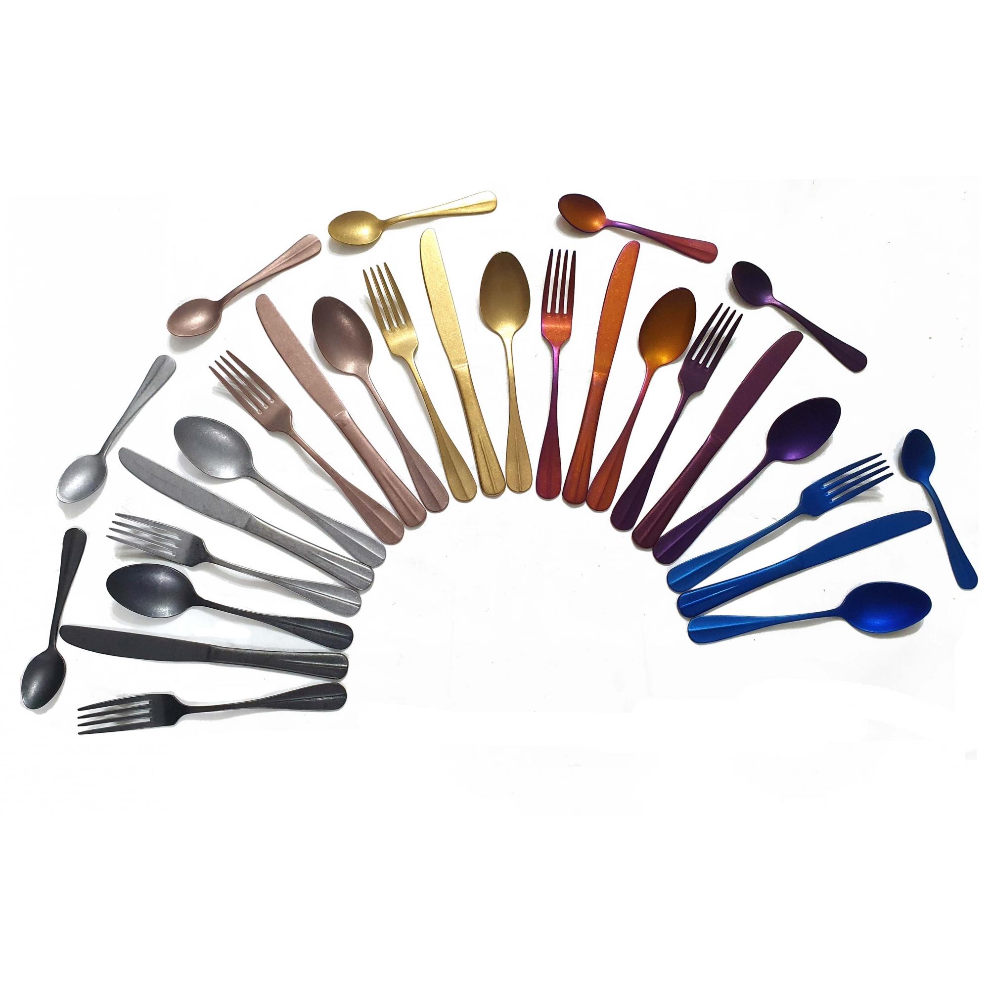Talheres Inox Envelhecido Rainbow - 4 peças - OUTLET