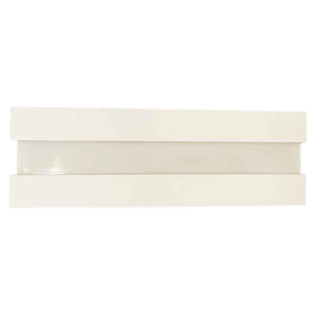 Arandela externa retangular modular branca BT/BR 3810/46 - Usina