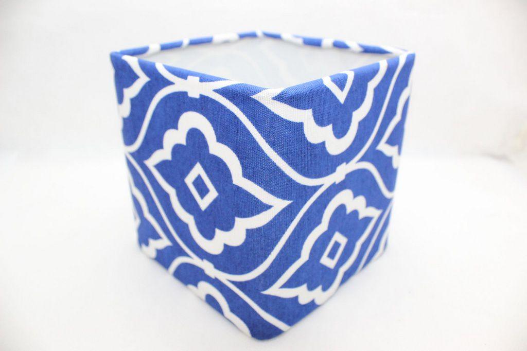 Cupula para Abajur Azul e Branco