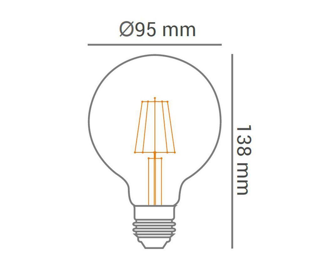 Kit 10 Lâmpadas Led Filamento 4w Vintage Retrô Luz Ambar -  OPUS