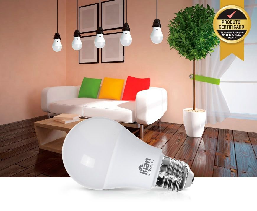 LAMPADA DE LED CLASSIC LED BULBO 6W LUZ FRIA 6500K BIVOLT - KIAN