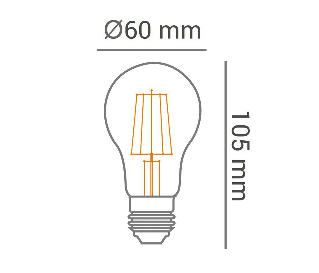 Lâmpada Led 4W 2200K Branco Quente Bulbo A60 Carbon E27 Bivolt Lp33365 - OPUS
