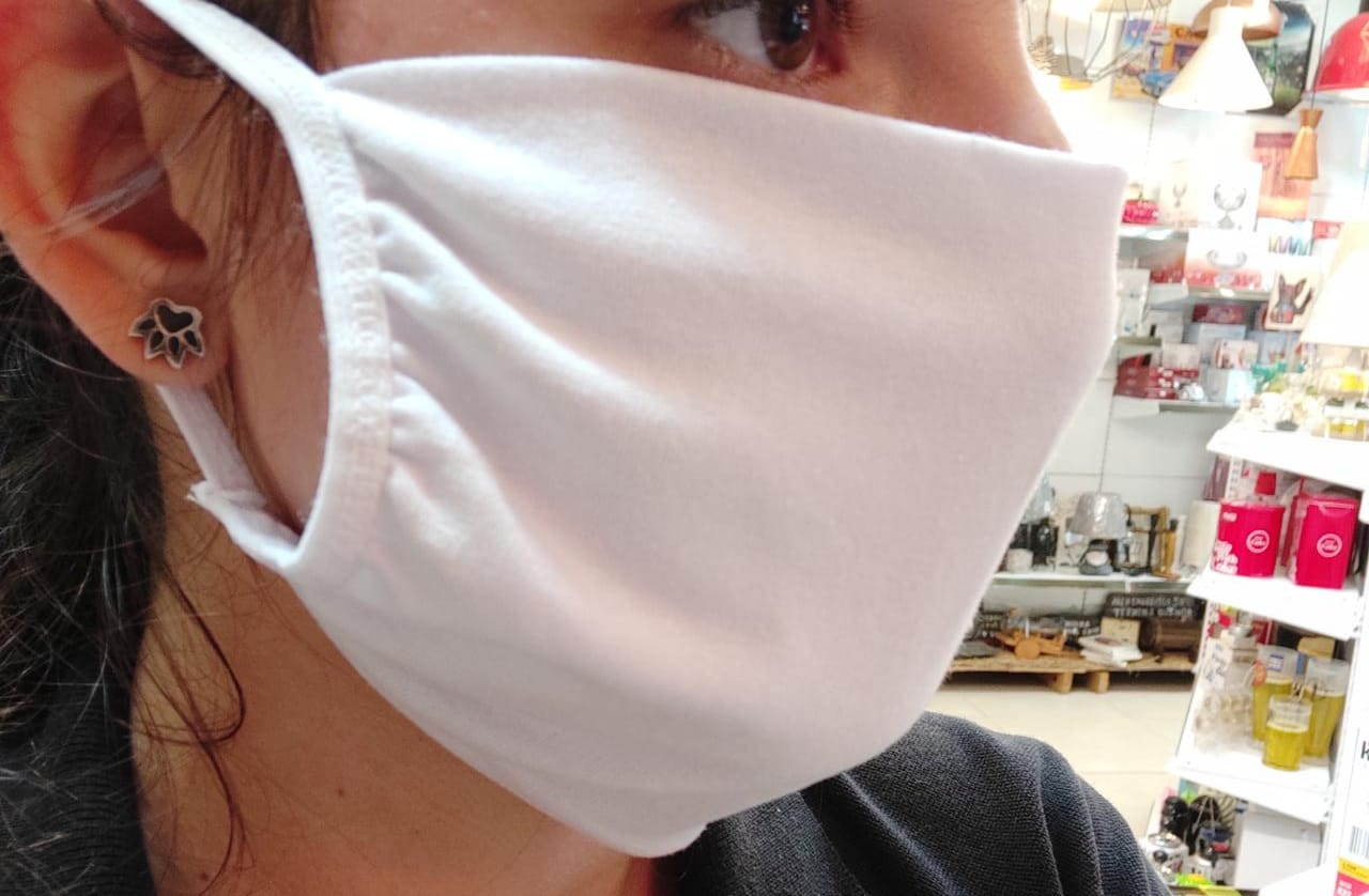 Máscara Lavável de Tecido 100% algodão