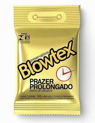 PRESERVATIVO BLOWTEX RETARDANTE PRAZER PROLONGADO COM 03 UNIDADES