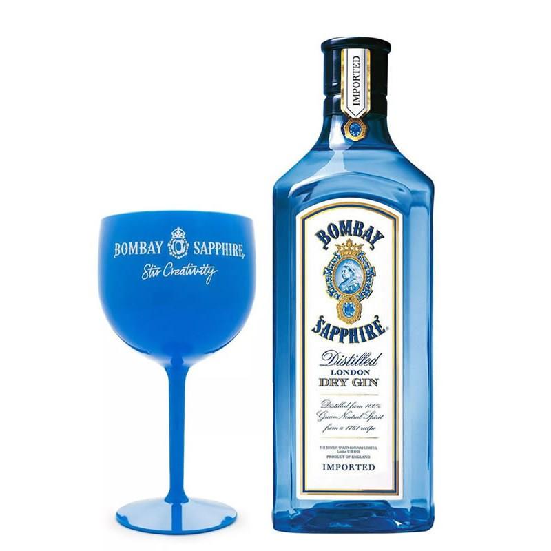 Gin Bombay Sapphire 750ML + Taça Acrílico