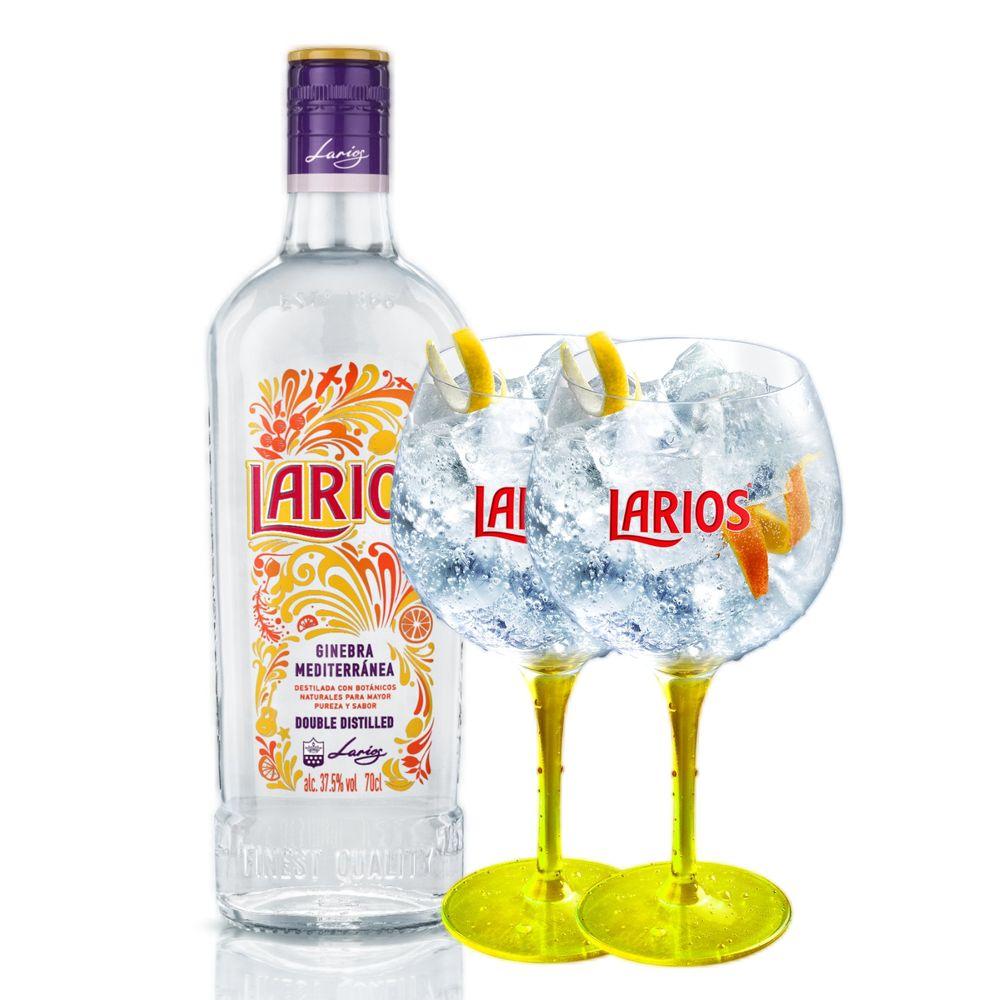 Gin Larios 700ML + 2 Taças