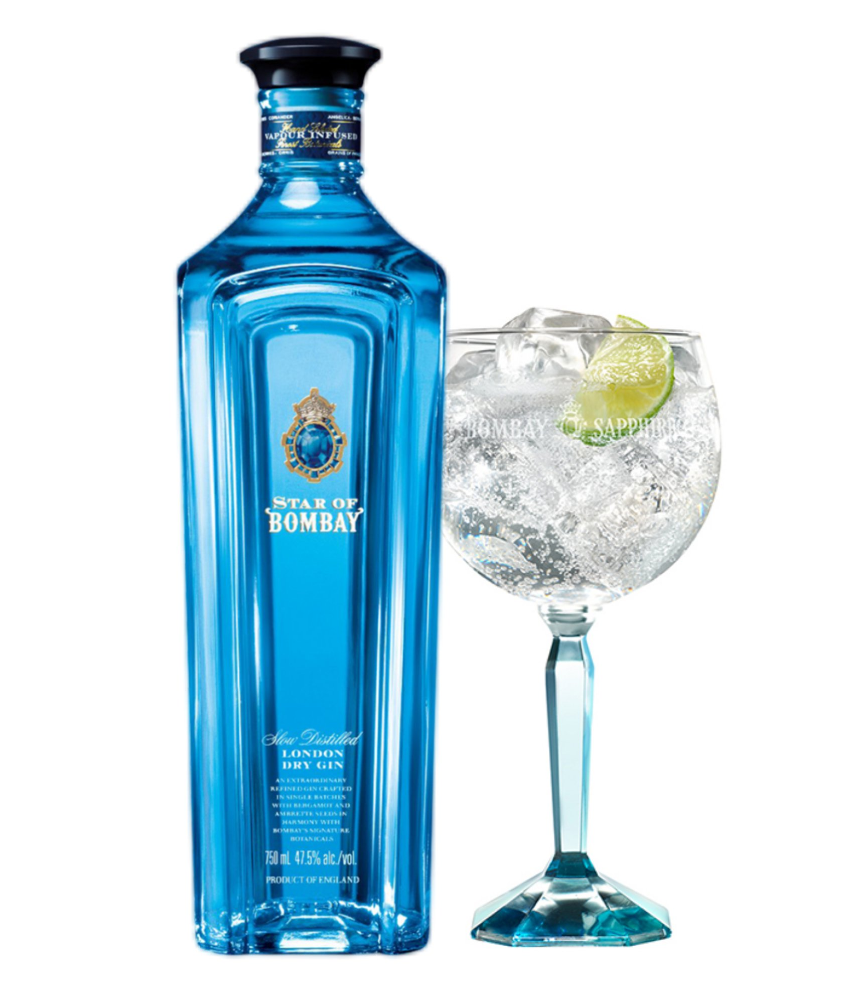 Gin Star of Bombay 750ML + Taça de Cristal