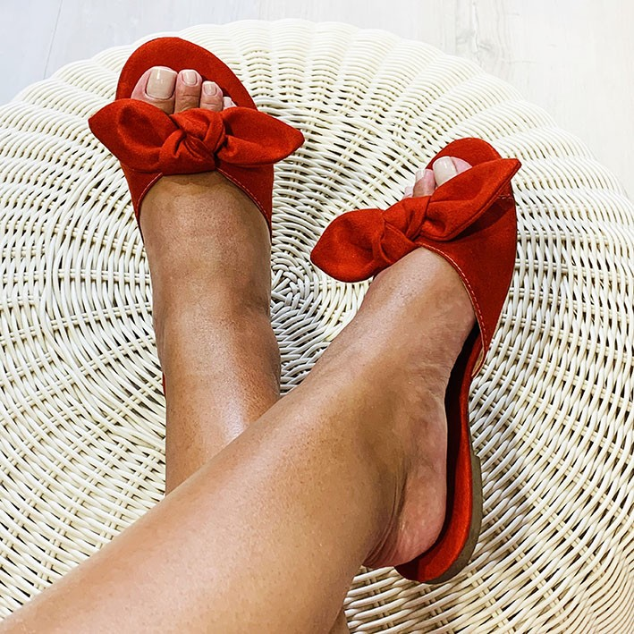 R125 Rasteira Ponteira Redonda Vermelha