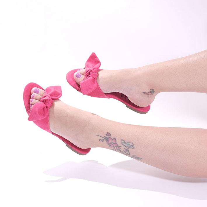 R127 Rasteira Ponteira Redonda Rosa Pink