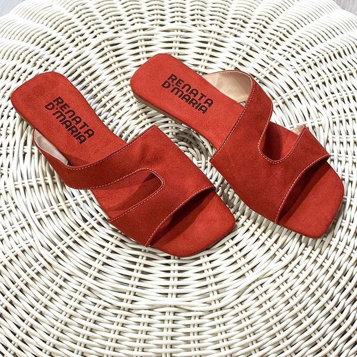 R140 Rasteira Ponteira Quadrada Recorte Vermelho