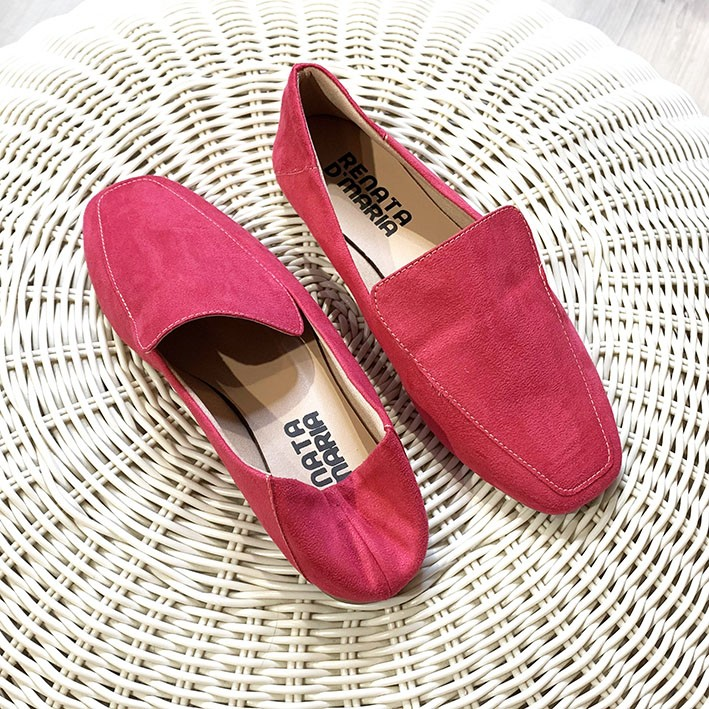 S141 Sapatilha Loafer Suede Rosa Pink