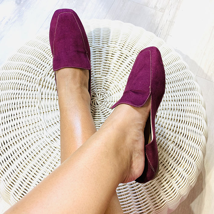 S148 Sapatilha Loafer Suede Uva
